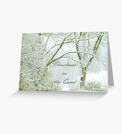 """Christmas in the Quiet""... Christmas Card Greeting Card"