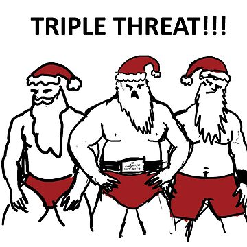 Triple Threat Santa by marvellyous
