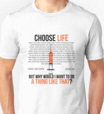 Wählen Sie das Leben - Trainspotting Slim Fit T-Shirt