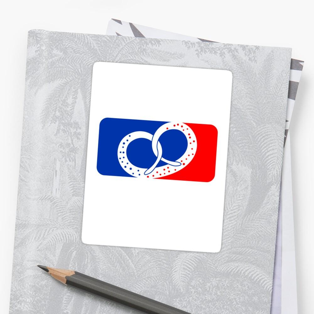 sport pretzel food hunger delicious oktoberfest logo symbol cool design red blue by Motiv-Lady
