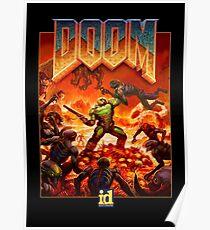 """Doom """"Demon Killer"""" Logo Poster"""