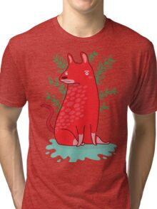 Big red Dog Tri-blend T-Shirt