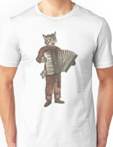 Accordion Cat with Goggles and Mask Unisex T-Shirt