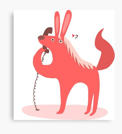 Horse Bunny asking for love Canvas Print
