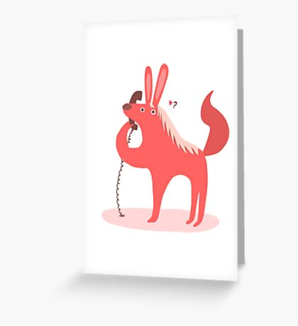 Horse Bunny asking for love Greeting Card