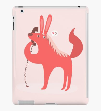 Horse Bunny asking for love iPad Case/Skin