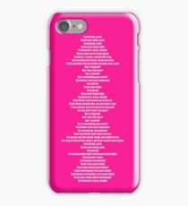 Everybody (Backstreets Back) Lyrics iPhone Case/Skin