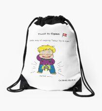 Tivoli is open Drawstring Bag