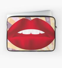 Retro poster with red lips Laptop Sleeve