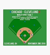 Chicago Are World Champions: The Final Out Photographic Print