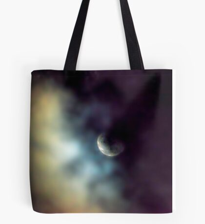 Shy Moon Tote Bag