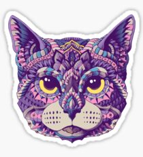 Cat Head (Color Version) Sticker