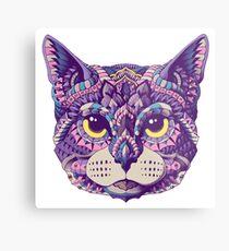 Cat Head (Color Version) Metal Print