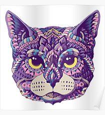 Cat Head (Color Version) Poster