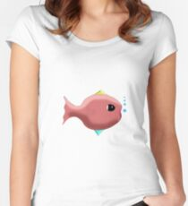 Something fishy transparent background Women's Fitted Scoop T-Shirt