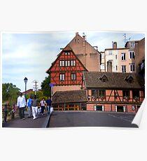 Strasbourg, Ponts Couverts Street, France Poster