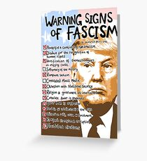 Trump & the 14 Warning Signs of Fascism. Greeting Card