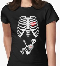 Halloween X Ray Maternity Pregnant Costume Women's Fitted T-Shirt