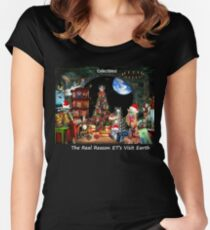 Christmas at the Kleegs Women's Fitted Scoop T-Shirt
