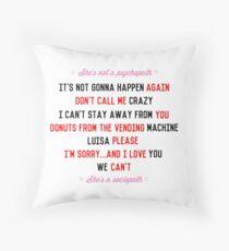 Roisa Quotes Throw Pillow