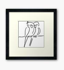 Parrots in Love :) Framed Print
