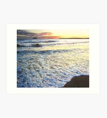 Foamy Tide At Garryvoe Beach Art Print