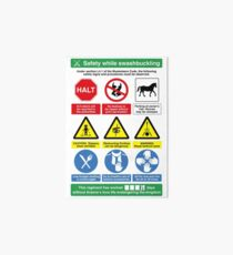 Musketeer Safety Signs (print/card) Art Board