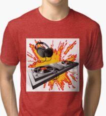 DJ control panel Tri-blend T-Shirt
