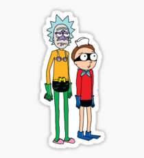 Mermaid Rick and Barnacle Morty Sticker