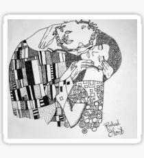 The Kiss- original by Gustav Klimt Sticker