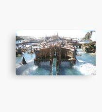 Final Fantasy City Canvas Print