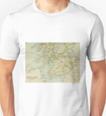 Old map of Scotland Unisex T-Shirt
