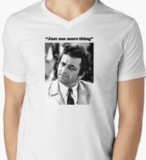 "Columbo - ""Just one more thing"" Mens V-Neck T-Shirt"