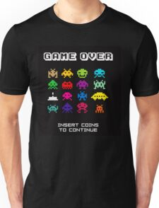 Space Invaders Arcade Game Over Unisex T-Shirt