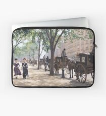 Cab Stand at Madison Square Garden, 1900 Laptop Sleeve