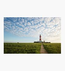 Happisburgh Lighthouse, Norfolk, UK. Photographic Print
