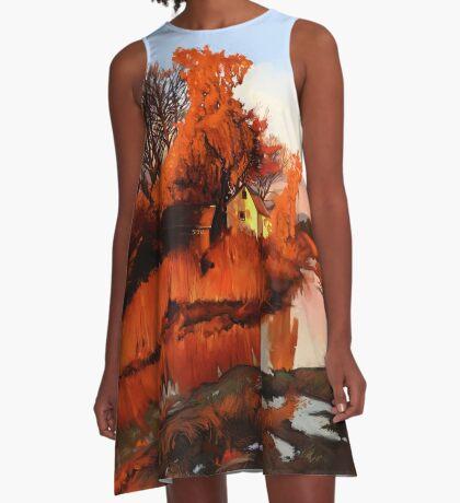 Finn Slough in Autumn A-Line Dress