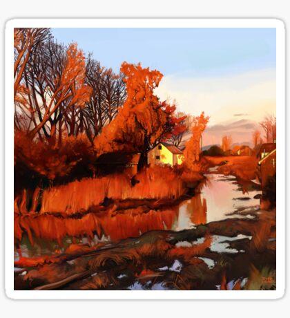 Finn Slough in Autumn Sticker