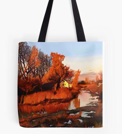 Finn Slough in Autumn Tote Bag