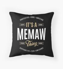 Perfect Gifts Memaw  Throw Pillow