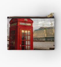 Red Telephone Booth Studio Pouch