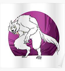 purple werewolf Poster