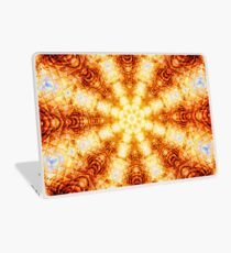 Undulating Tunnels of Molten Light - Abstract Fractal Art Laptop Skin