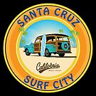 Surf City Santa Cruz with Woodie by Frank Schuster