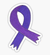 Medium Purple Awareness Ribbon Sticker