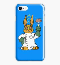 Cartoon Kids Mad Scientist In Training Bunny iPhone Case/Skin