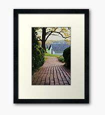 country brick road Framed Print