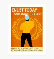 Star Trek - Faux Starfleet Propaganda Art Print