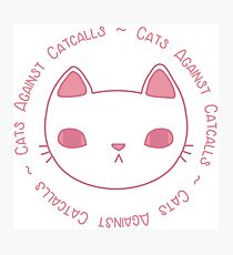 Cats Against Catcalls Photographic Print