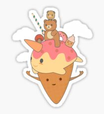 Cute & kawaii Ice Cream Art Sticker